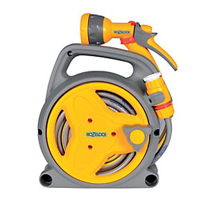 Hozelock Pico Hose Pipe Reel with Spray Gun - 10m