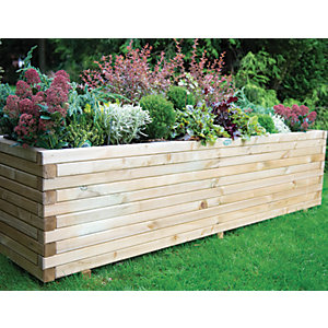 Forest Garden Lomello Planter Natural - 500 x 500mm