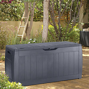 Keter Hollywood Patio Storage Box Anthracite Wickes Co Uk