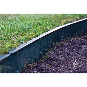 Apollo Gardening Plastic Lawn Edging Green - 1m x 130mm