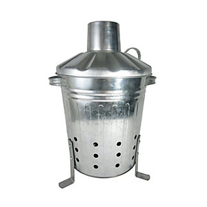 Galvanised Steel Compact Mini Incinerator - 13L