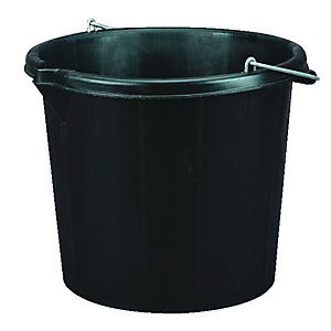 Wickes Durable Plastic General Use and Builders Bucket - 14L