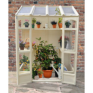 Forest Garden 4.8ft x 2.4ft Victorian Tall Wall Greenhouse