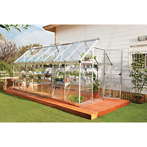 Palram 6 x 14ft Harmony Large Aluminium Apex Long Greenhouse with Polycarbonate Panels