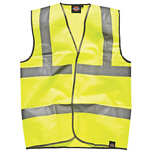 Bunzl Uk High Visibility Yellow Waistcoat XL EN471