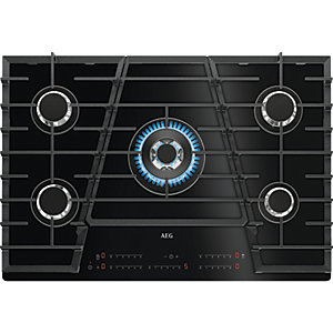 AEG 75cm Gas on Glass Hob with TouchSure HVB75450IB
