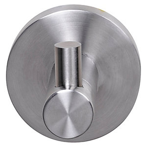 Croydex Brushed Steel Finish Robe Hook