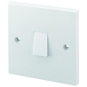 Wickes 10A 1 Gang 1 Way Light Switch - White