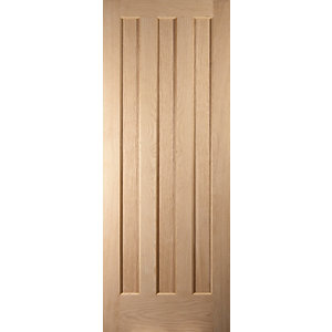 Jeld-Wen Aston Oak 3 Panel Internal Fire Door - 1981mm