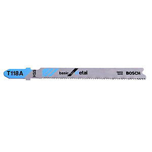 Bosch T118A Metal Jigsaw Blades - Pack of 5