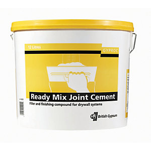 British Gypsum Gyproc Ready Mixed Joint Cement - 12L