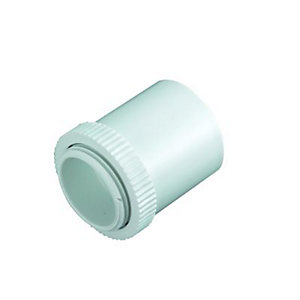 Wickes Male Conduit Adaptor - White 25mm Pack of 2