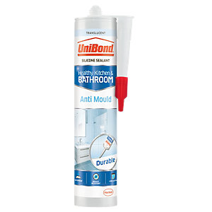 UniBond Anti-Mould Kitchen and Bathroom Sealant Translucent - 274g