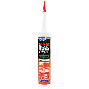 Wickes All in 1 Adhesive & Filler Sealant - White 290ml