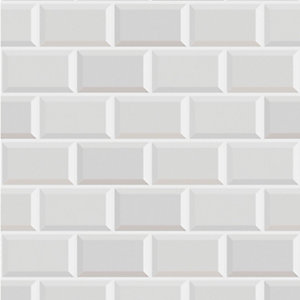 Contour Metro White Decorative Wallpaper - 10m