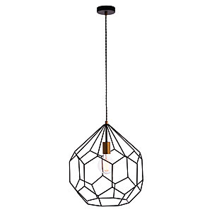 Deco Pendant Light Matt Black