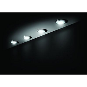 Wickes Ella White Chrome Cabinet LED Kit 6W -  Pack of 4