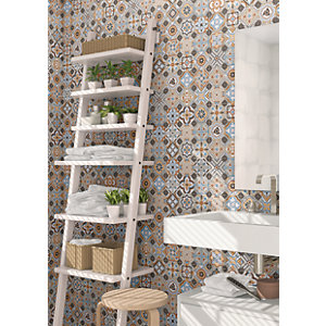 Wickes Central Park Patterned Ceramic Wall & Floor Tile - 316 x 316mm - Sample