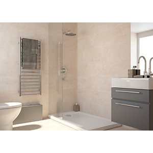 Wickes City Stone Beige Ceramic Wall & Floor Tile - 600 x 300mm