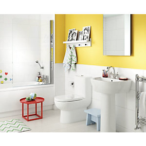 Wickes Gloss White Ceramic Wall Tile - 600 x 300mm