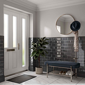 Wickes Metro Grey Ceramic Wall Tile - 200 x 100mm