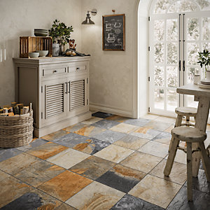 Wickes Multicolour Slate Effect Wall & Floor Tile 333 x 333mm