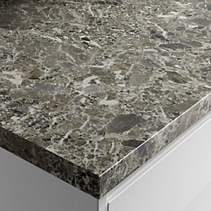 Wickes Gloss Laminate Worktop - Breccia 600mm x 38mm x 3m