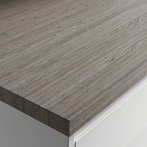 Wickes Wood Effect Laminate Worktop - Silver Grain 600mm x 38mm x 3m