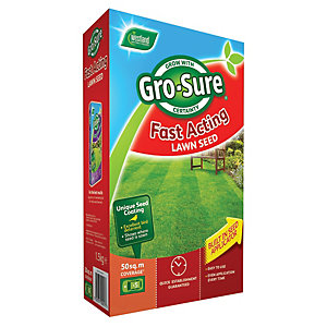 Gro-sure Fast Acting Lawn Seed 50m2 - 1.5kg