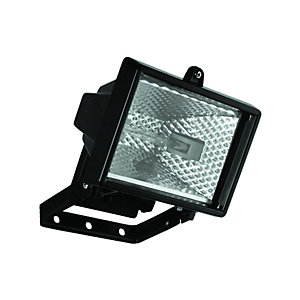 Wickes Black Aluminium Halogen Floodlight - 120W R7S