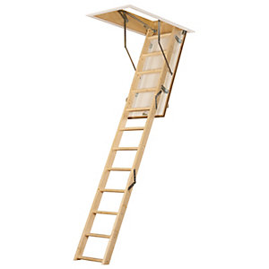 TB Davies FireFold Timber Loft Ladder  - Max Height 2.75m