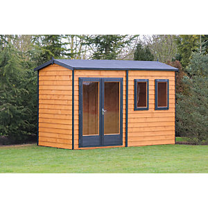 Shire 10 x 7ft Double Glazed Timber Apex Garden Office