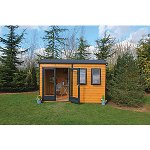 Shire 12 x 7ft Double Glazed Timber Apex Garden Office