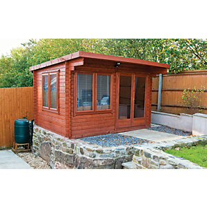 Shire Danbury 12 x 10ft Double Door Garden Home Office Cabin