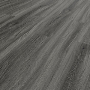Novocore Dark Grey Oak Luxury Vinyl Click Flooring - 2.56m2 Pack