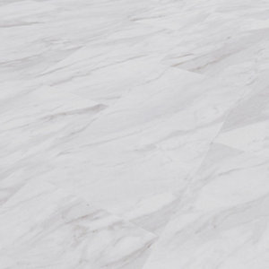 Novocore Marble Tile Effect Luxury Vinyl Click Flooring - 2.56m2 Pack