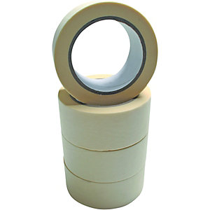 Wickes Multi-Surface Cream Masking Tape - 48mm x 50m - Pack of 4