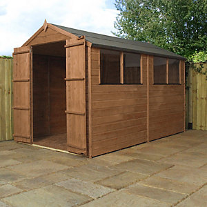 Mercia 10 X 6 Ft Pressure Treated Shiplap Apex Shed