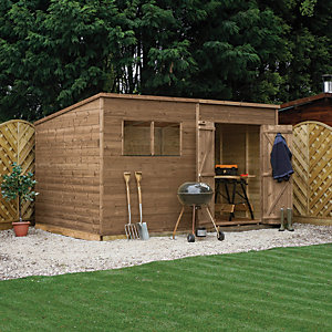 Mercia 12 x 8 ft Pressure Treated Pent Shed