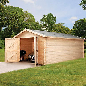 Mercia 14 x 19 ft Large Wooden Log Garage