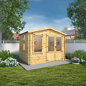 Mercia 3.3m x 3.0m 19mm Log Thickness Log Cabin