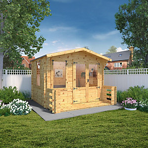 Mercia 3.3m x 3.4m 19mm Log Thickness Log Cabin