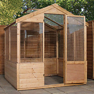 Mercia 4 x 6 ft Wooden Apex Greenhouse