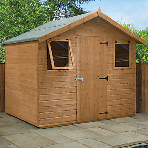 Mercia 6 x 8 ft Pressure Treated Shiplap Apex Shed