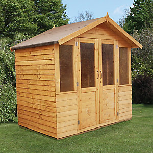 Mercia 7 x 5 ft Traditional Double Door Overlap Summerhouse