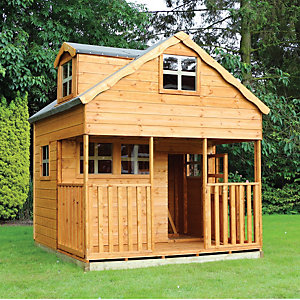 Mercia 7 x 7 ft Double Storey Cottage Playhouse