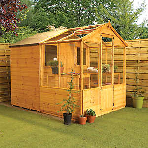 Mercia 8 x 6 ft Traditional Apex Greenhouse Combi Shed