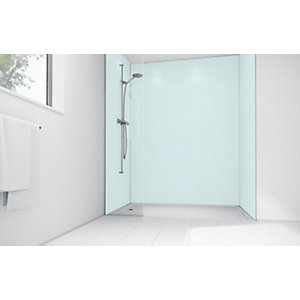 Mermaid Sky Blue Matte Acrylic Single Shower Panel