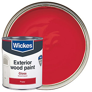 Wickes Exterior Gloss Poppy 750ml