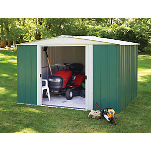 Rowlinson 10 x 8ft Double Door Metal Apex Shed without Floor